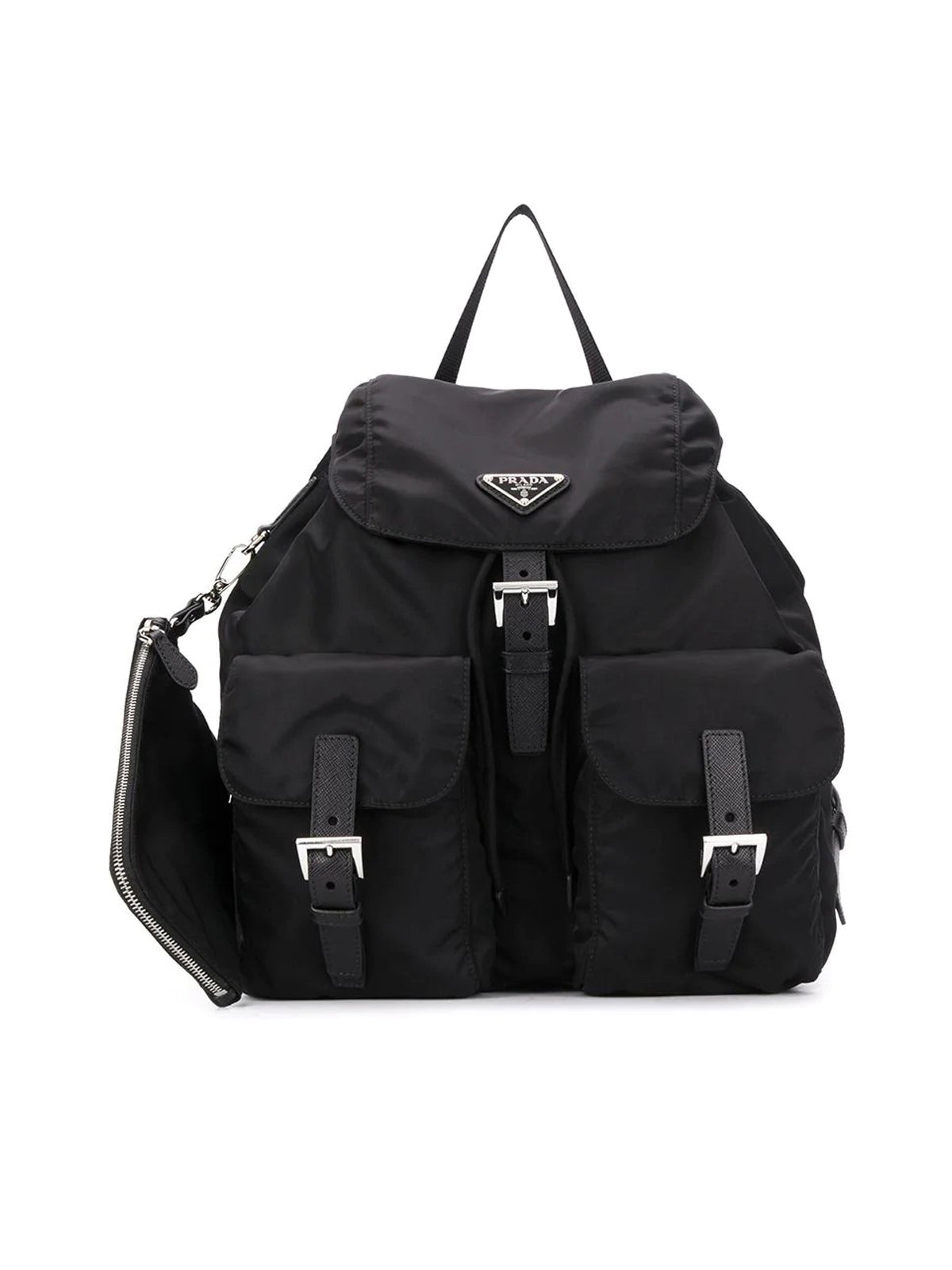 buckled nylon backpack