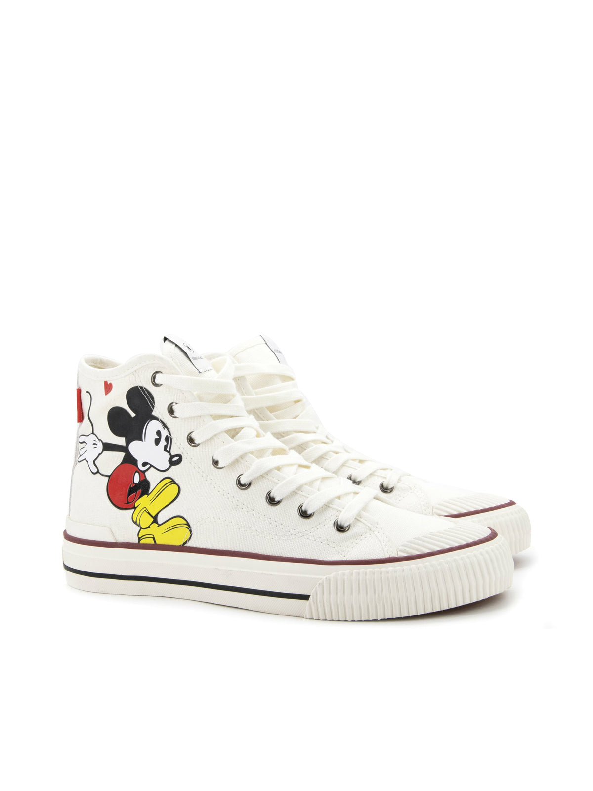 sneakers HIGH-TOP MICKEY MOUSE CREAM