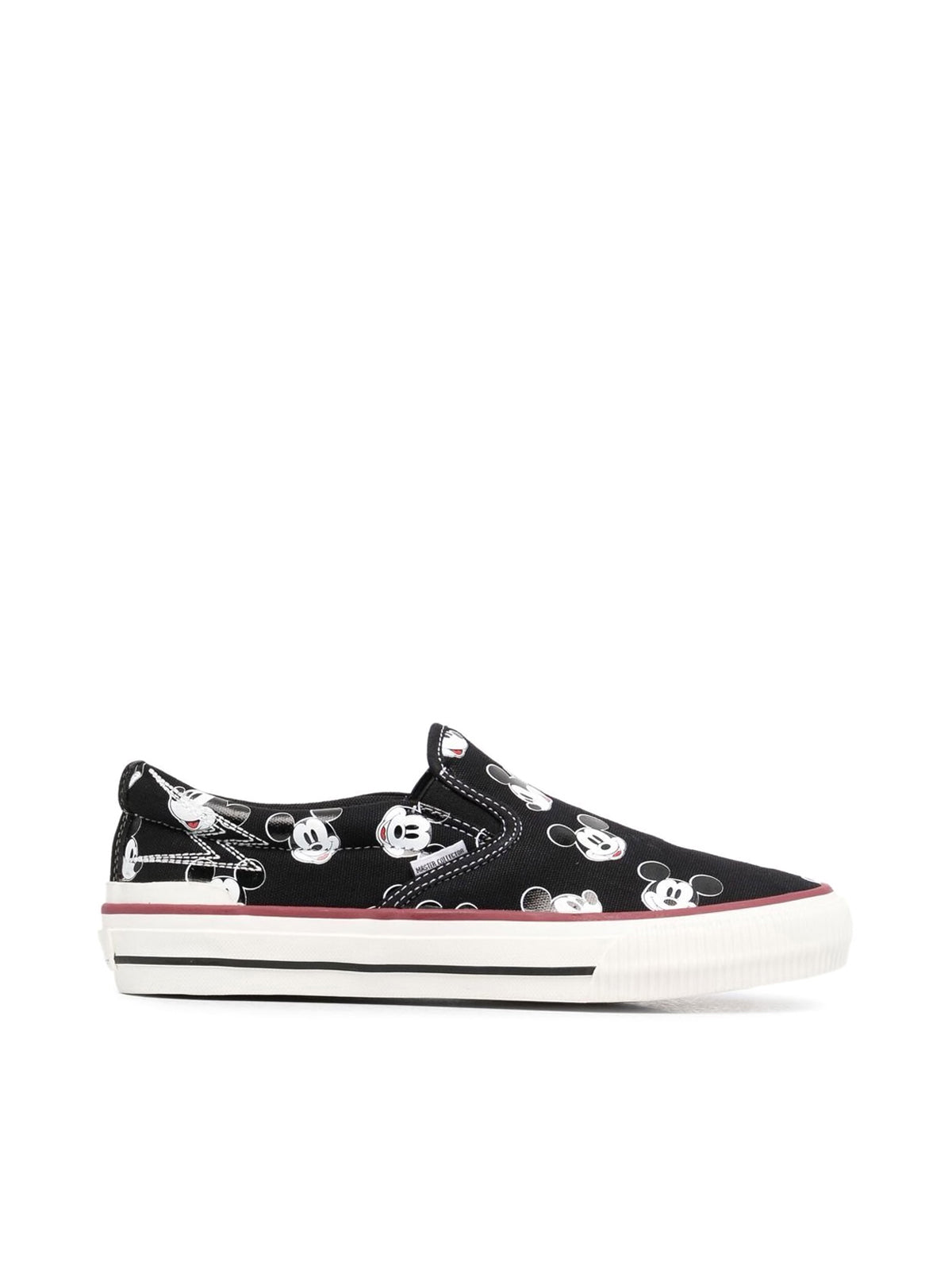 Mickey-print slip-on trainers