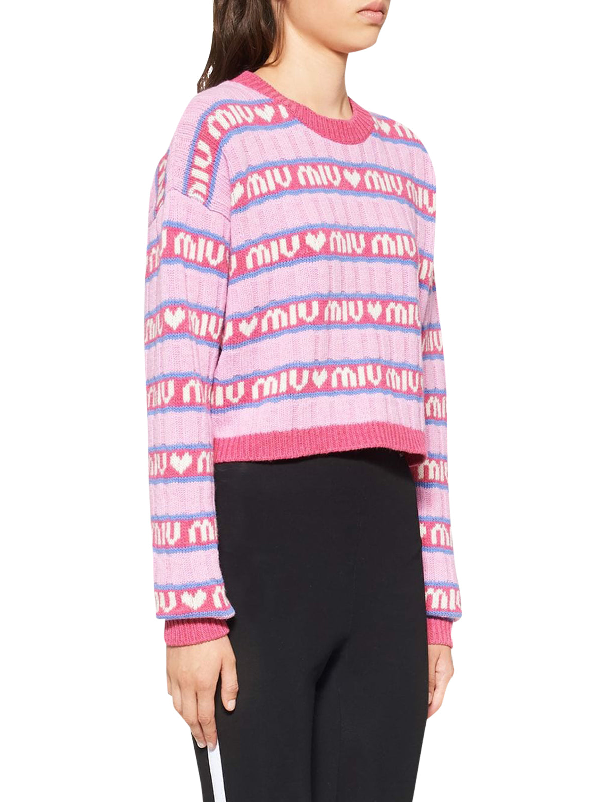 all-over logo jumper