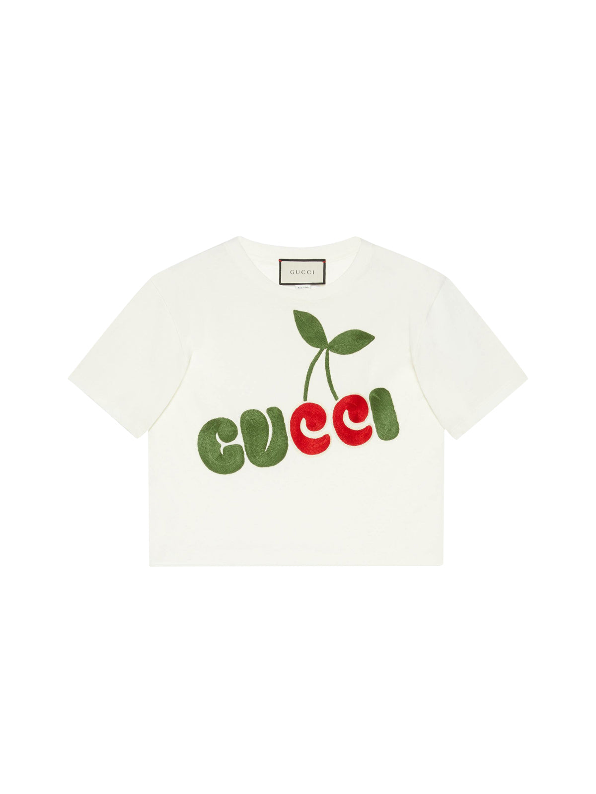 cherry print cotton t-shirt