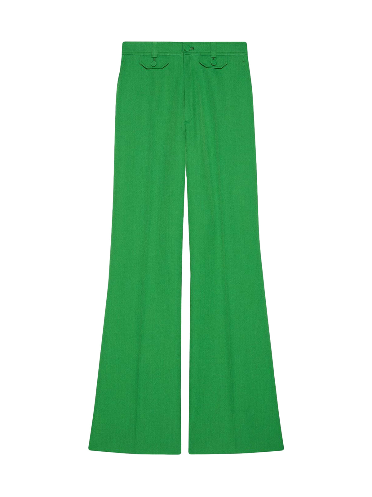 flared high-waist trousers