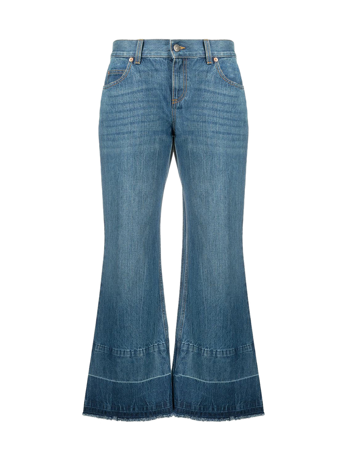 x Disney cropped bell bottom jeans