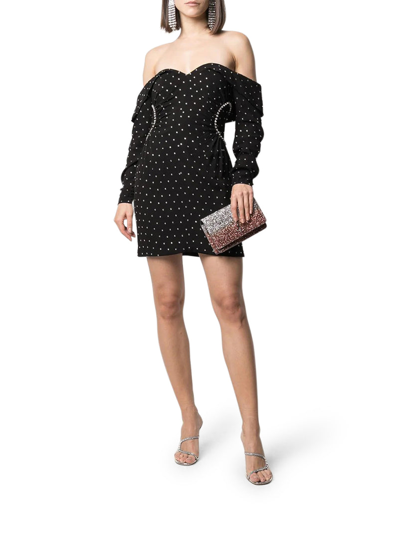 Diamante Off Shoulder Mini Dress