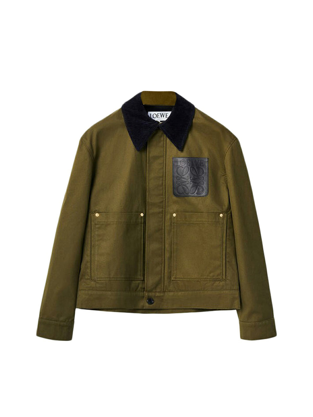 Short workwear jacket in cotton
