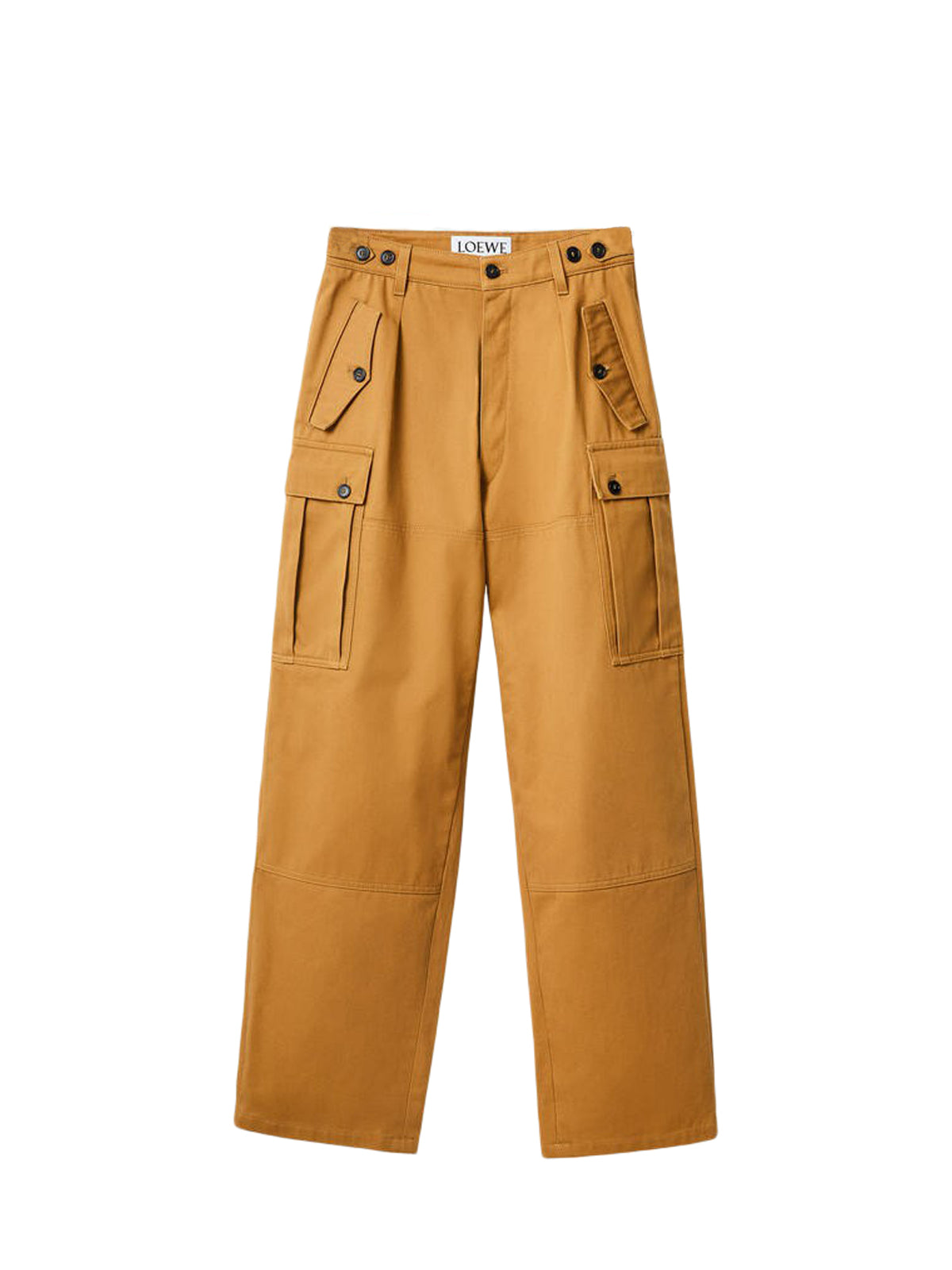 Cargo pocket trousers in cotton