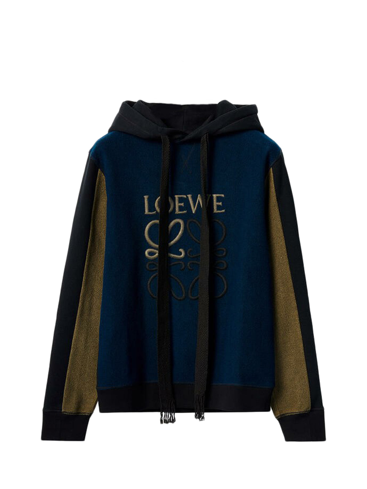 Reverse fleece Anagram hoodie in cotton