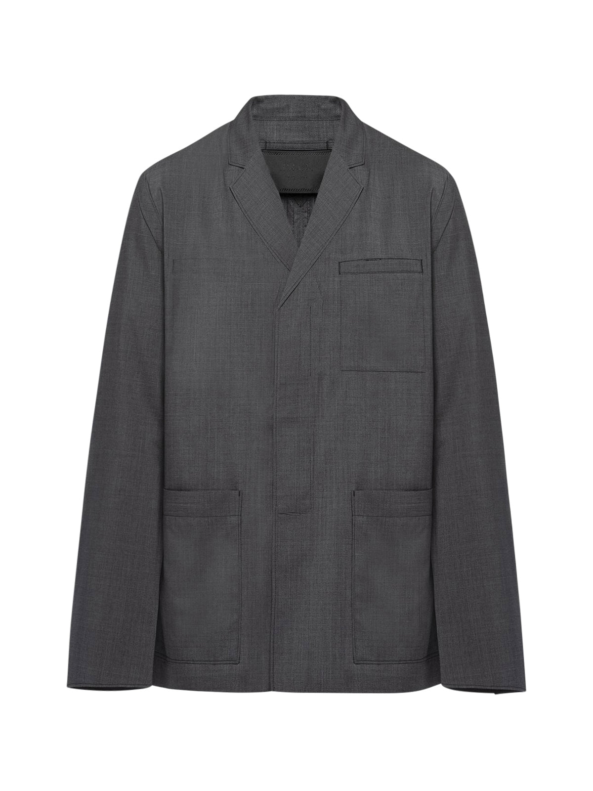 single-breasted patch pocket jacket