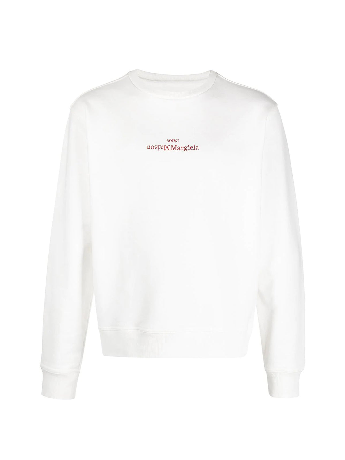 embroidered inverted logo sweatshirt
