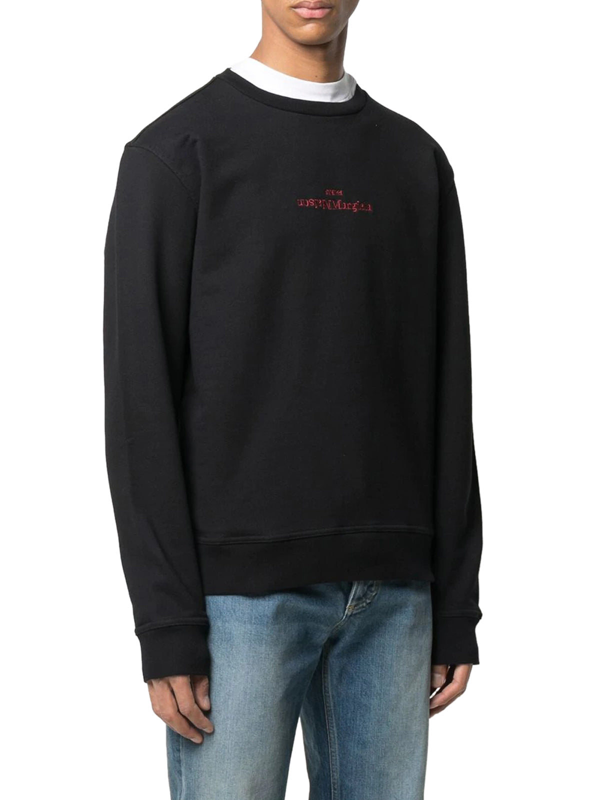 logo-embroidered sweatshirt