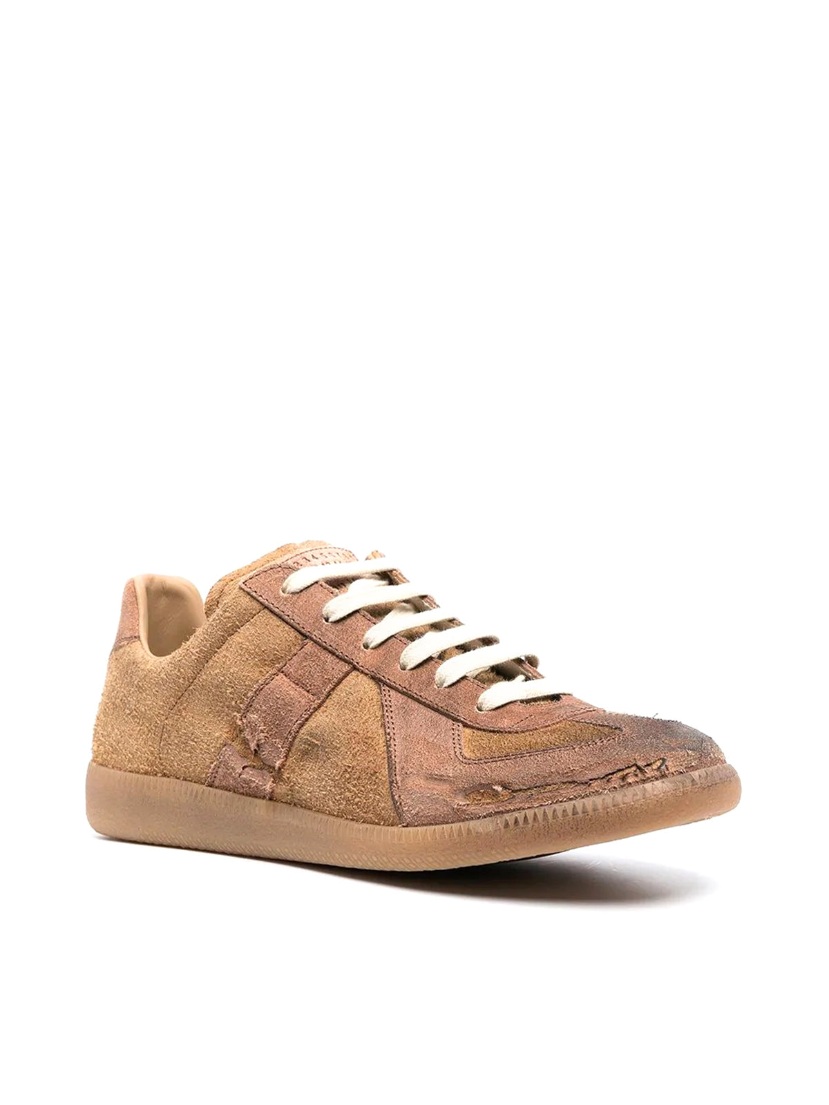 distressed Replica suede sneakers