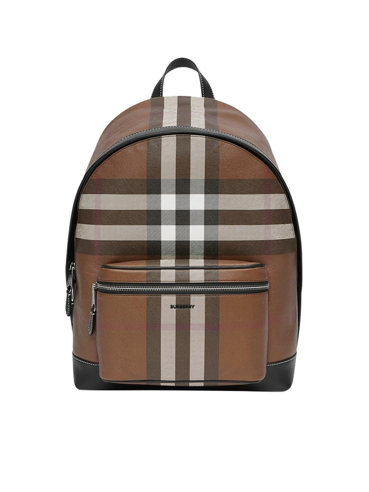 check-pattern backpack