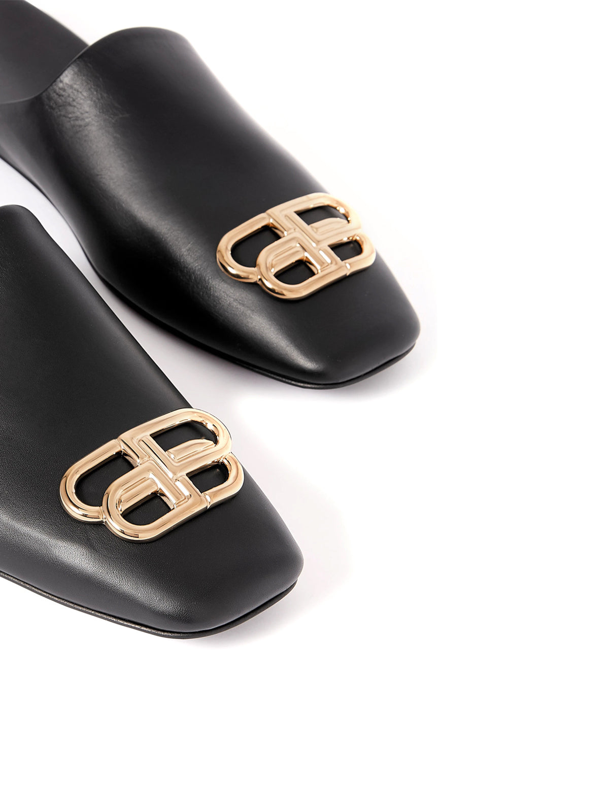 Cosy BB logo-embellished leather slippers