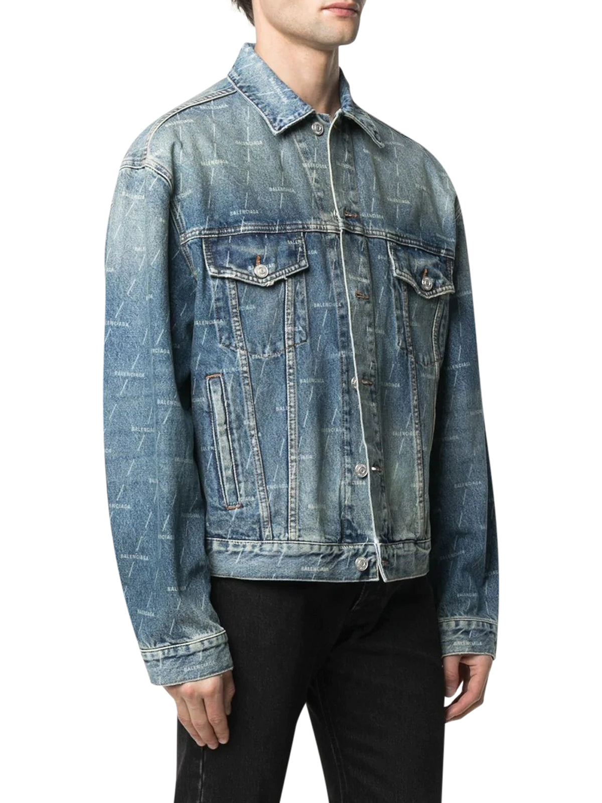 DENIM JACKET WITH LOGO