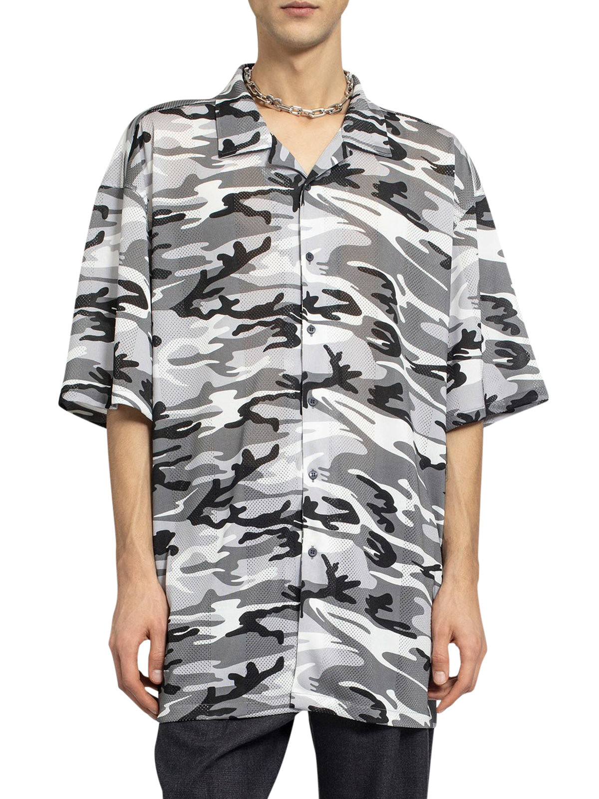 Grey camouflage xl short sleeve shirt