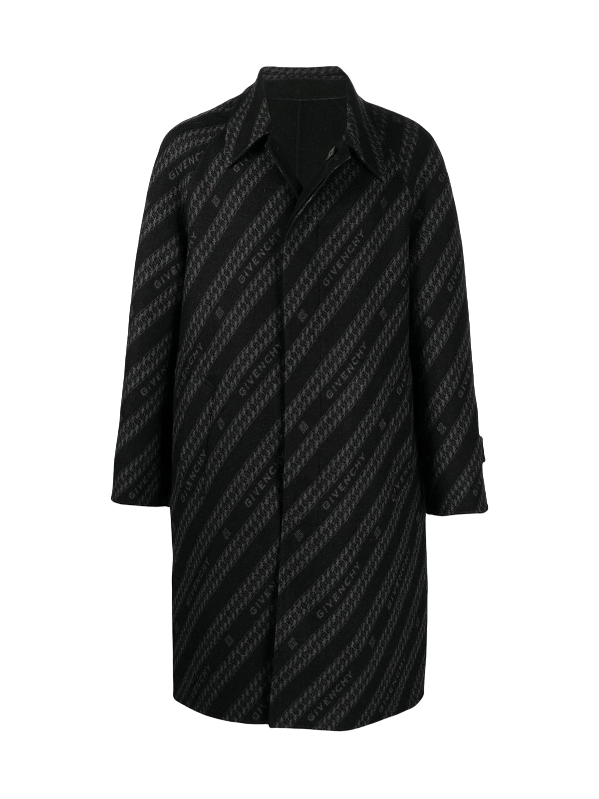 GIVENCHY CHAIN REVERSIBLE COAT IN JACQUARD