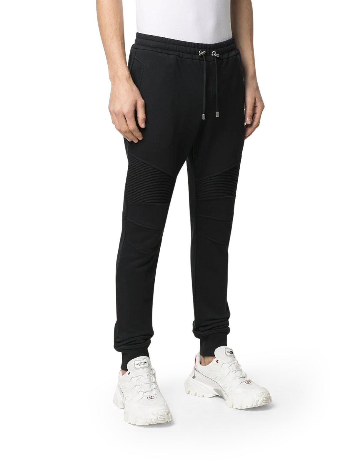 logo flocked track pants