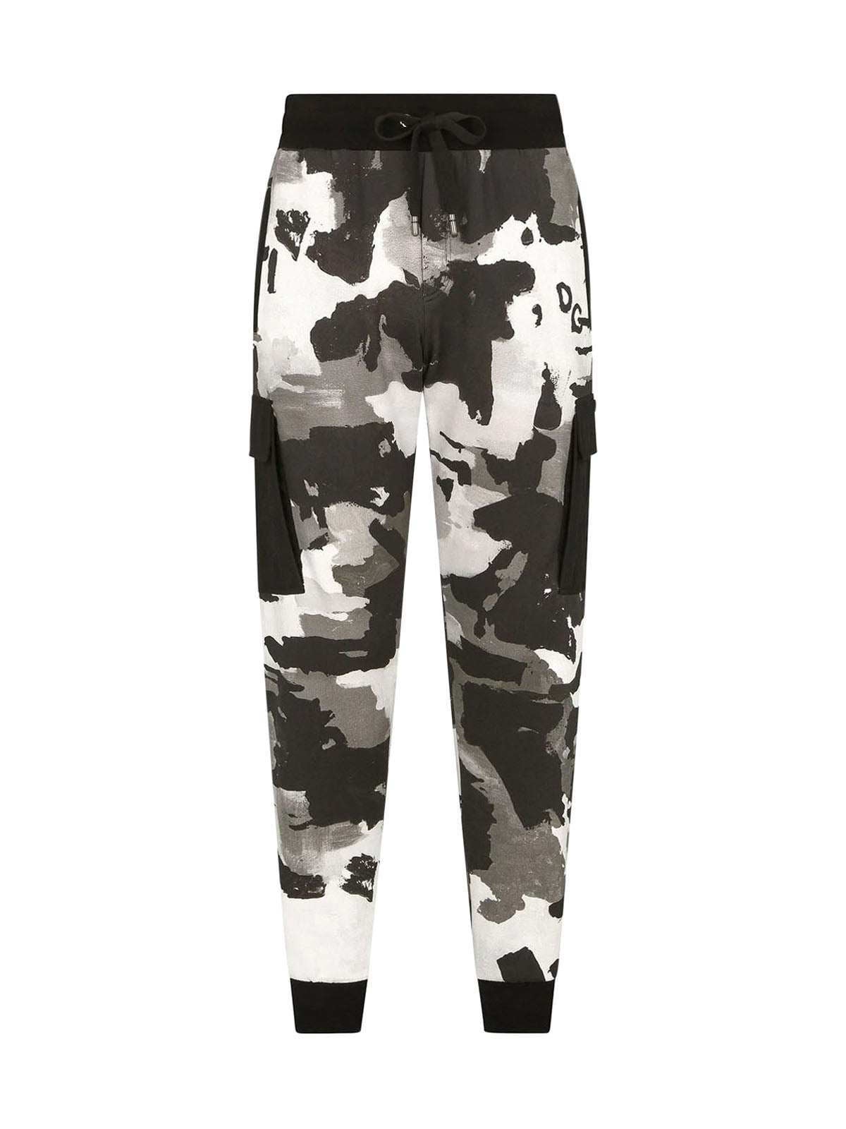 camouflage-pattern tapered track pants