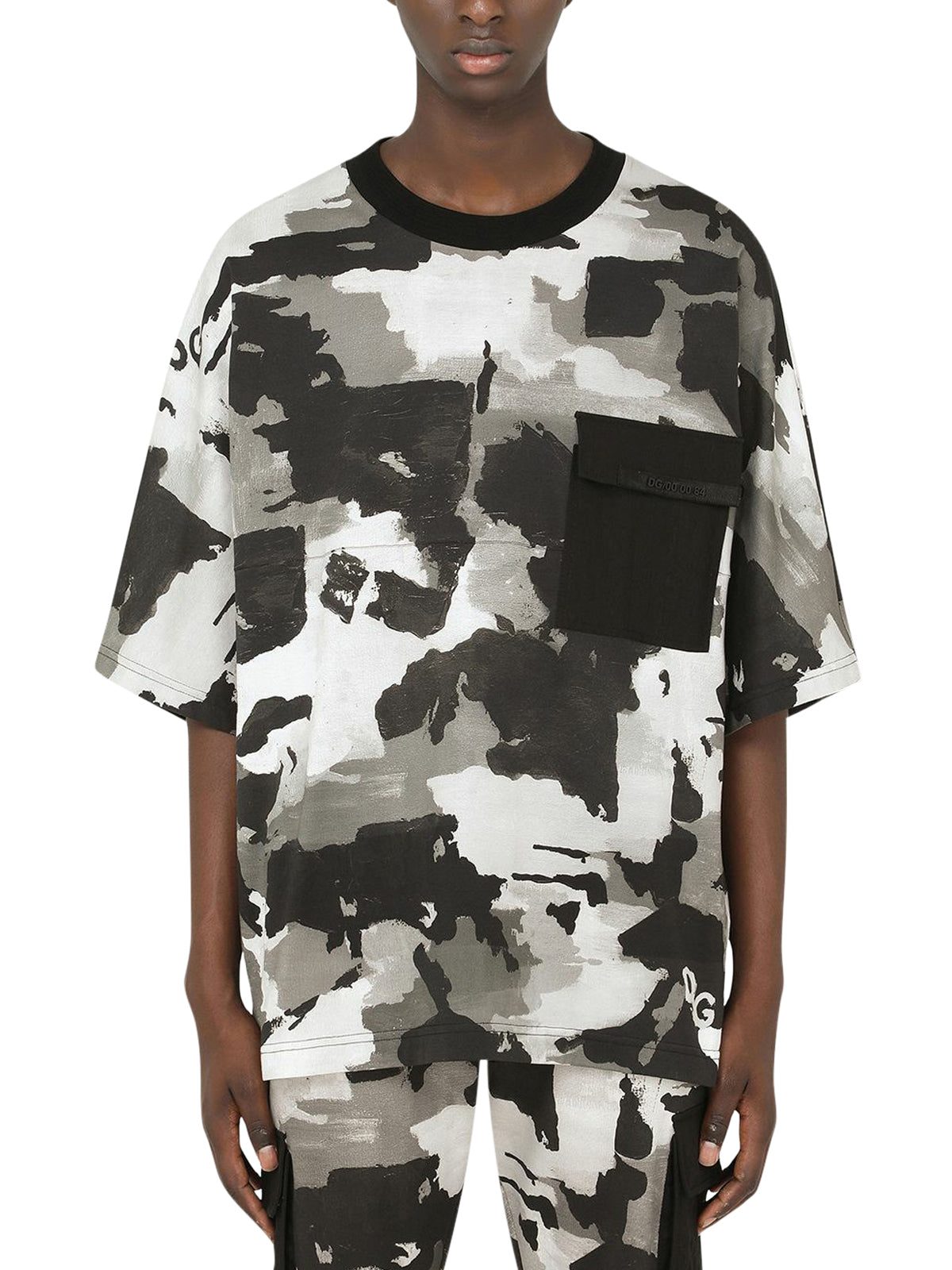 camouflage-pattern crew-neck T-shirt
