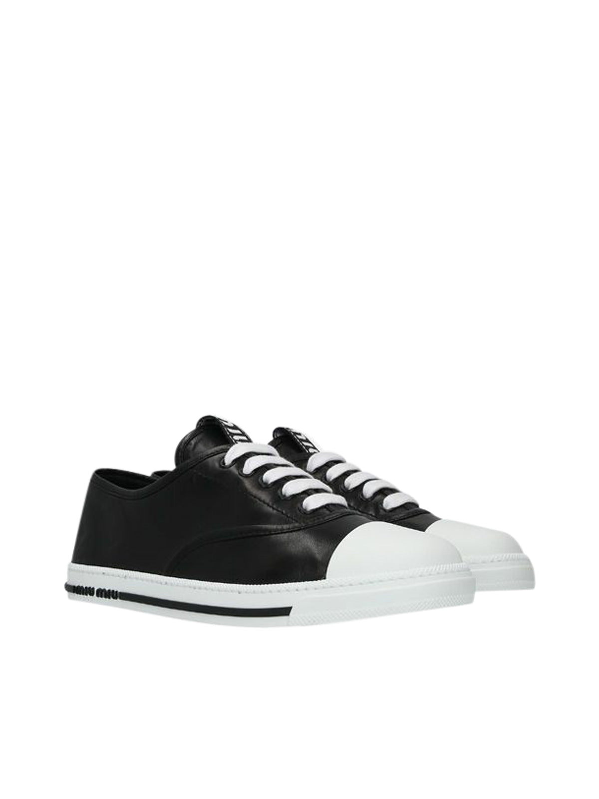 nappa leather lace-up sneakers