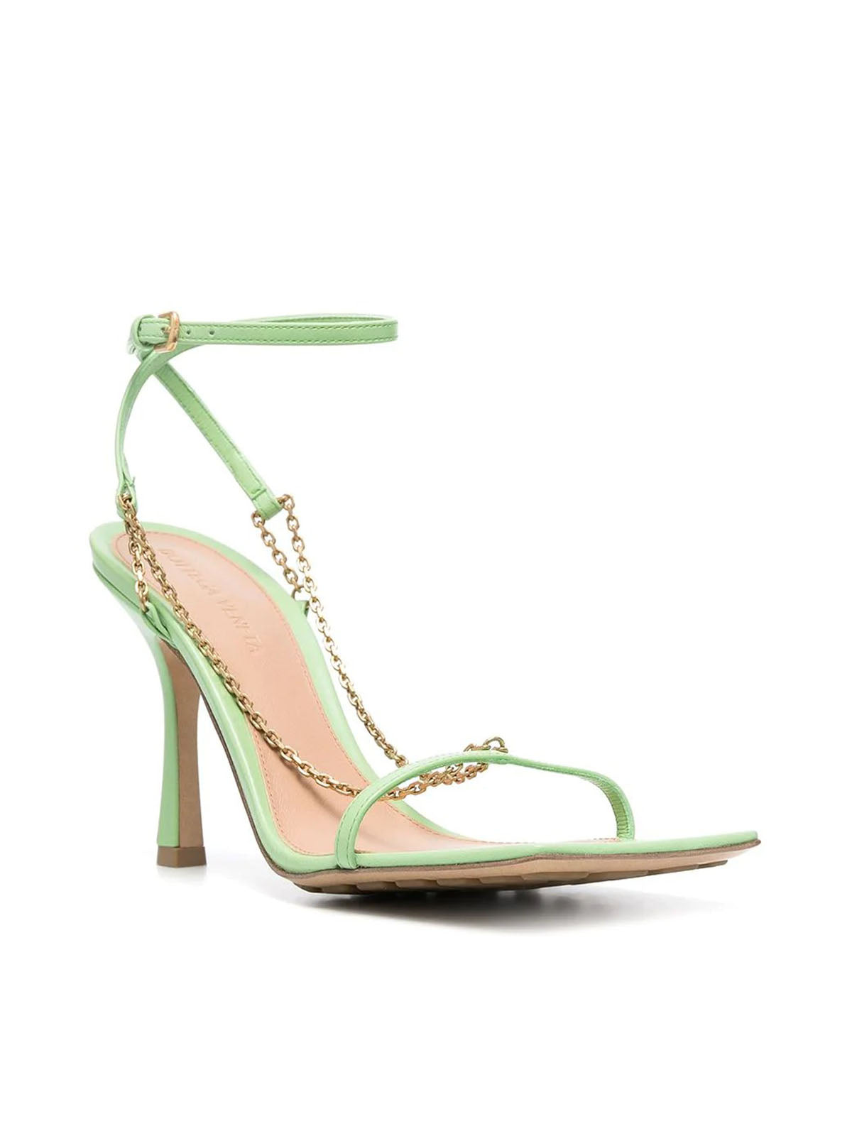 Stretch chain-detail sandals