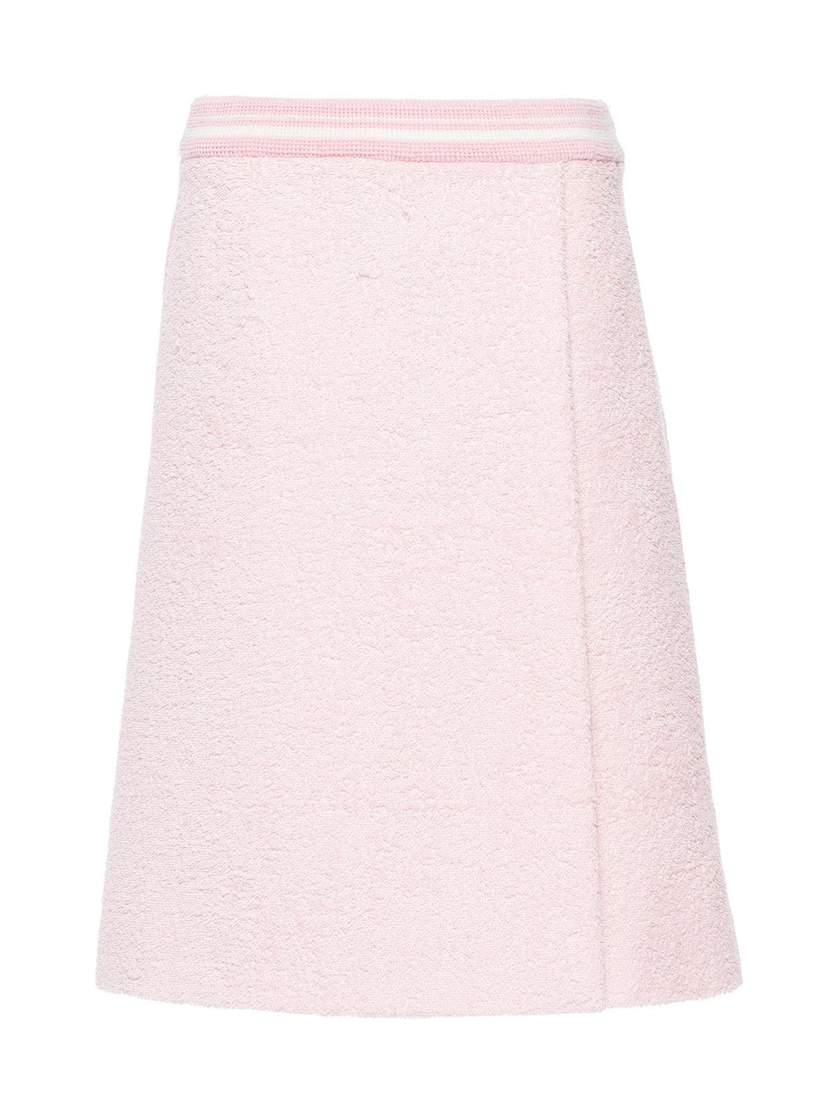 terry stripe trim skirt