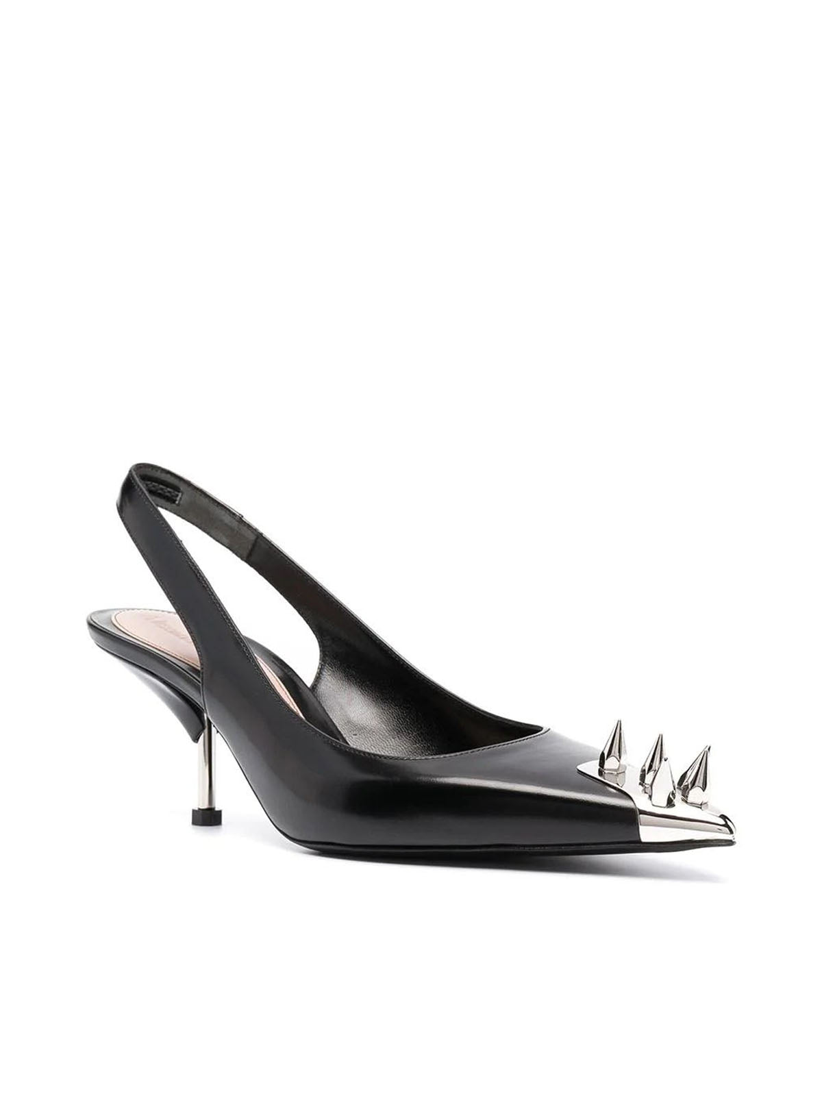 Punk Stud slingback pumps