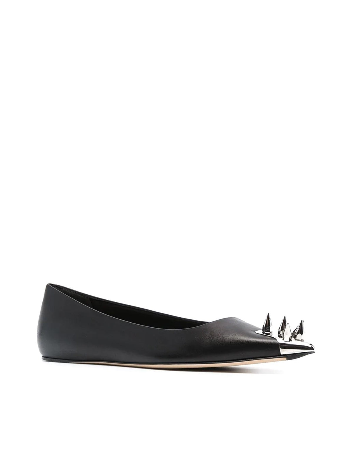 spike stud ballerina shoes