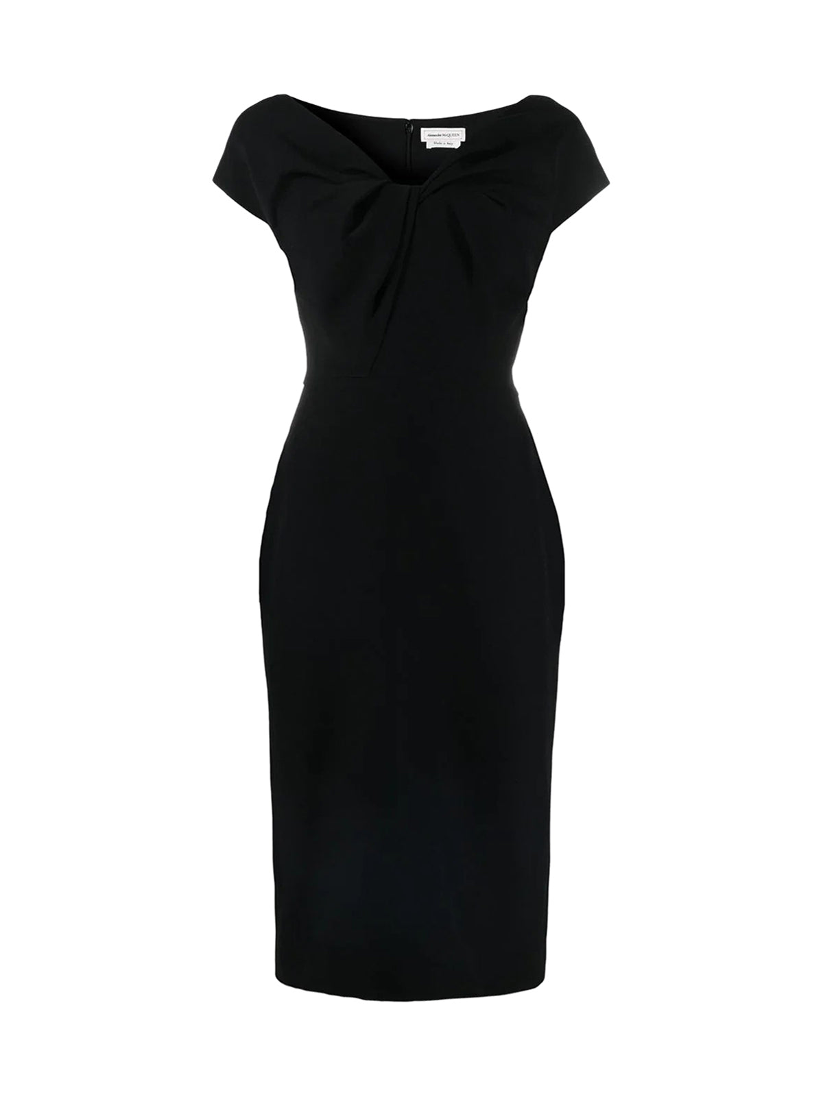 twist-detail midi dress