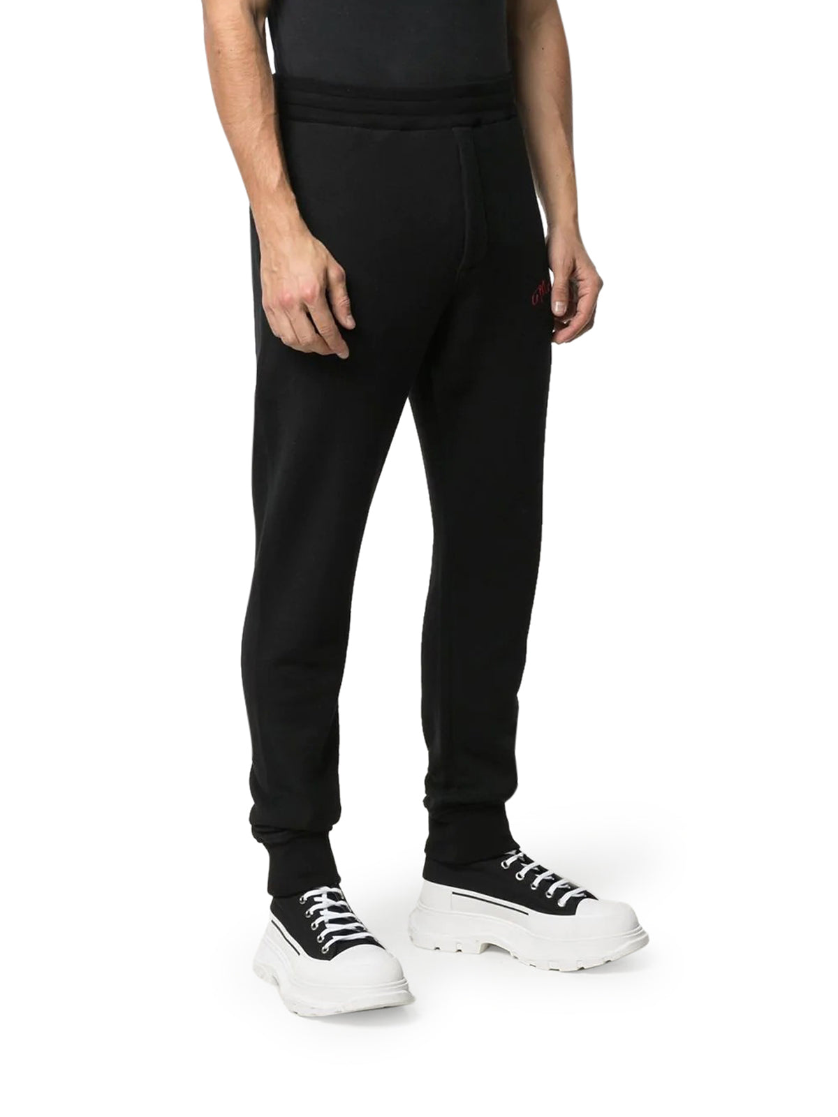 embroidered logo track trousers