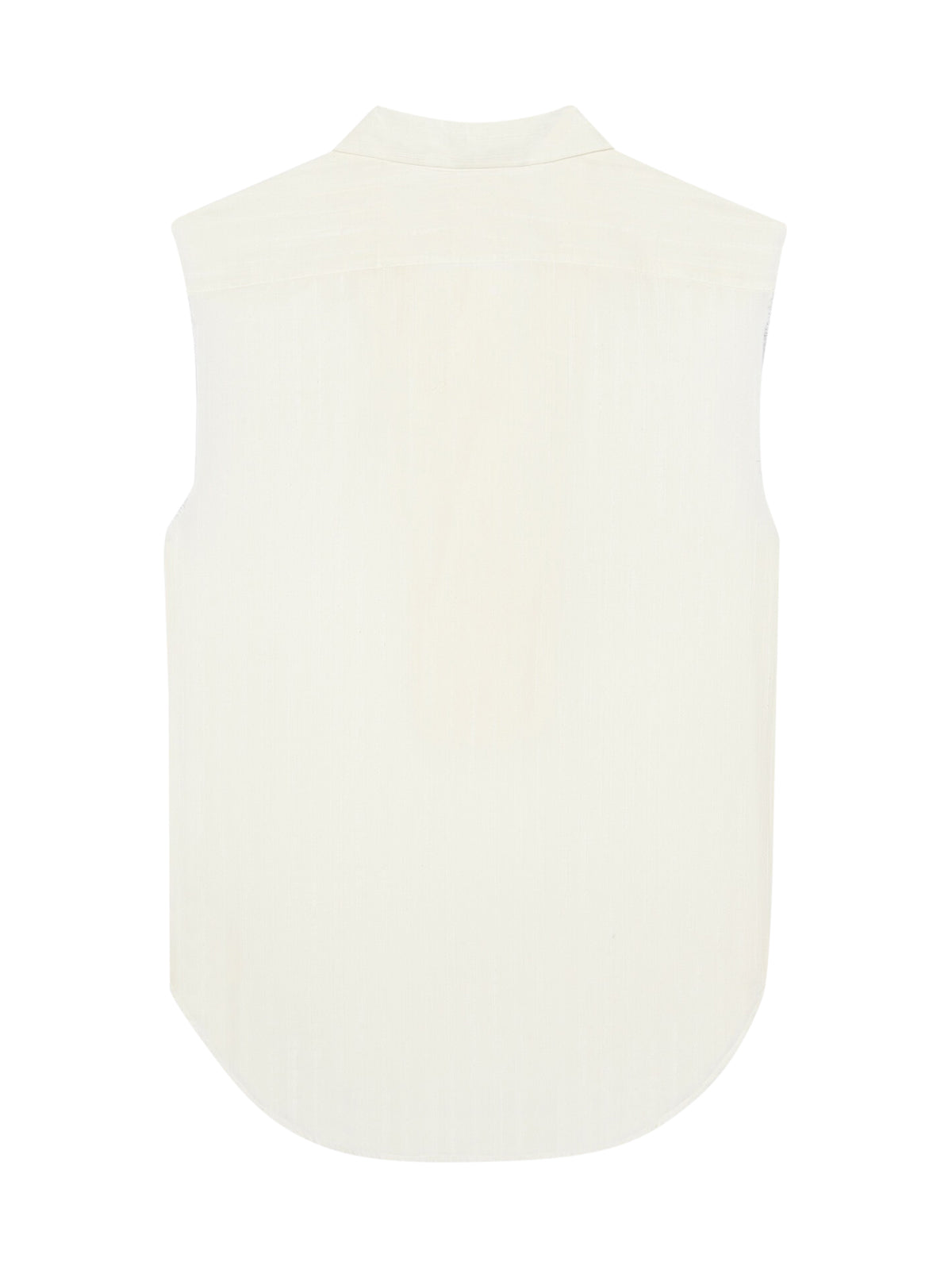 SLEEVELESS TUNIC IN EMBROIDERED STRIPE COTTON GAUZE