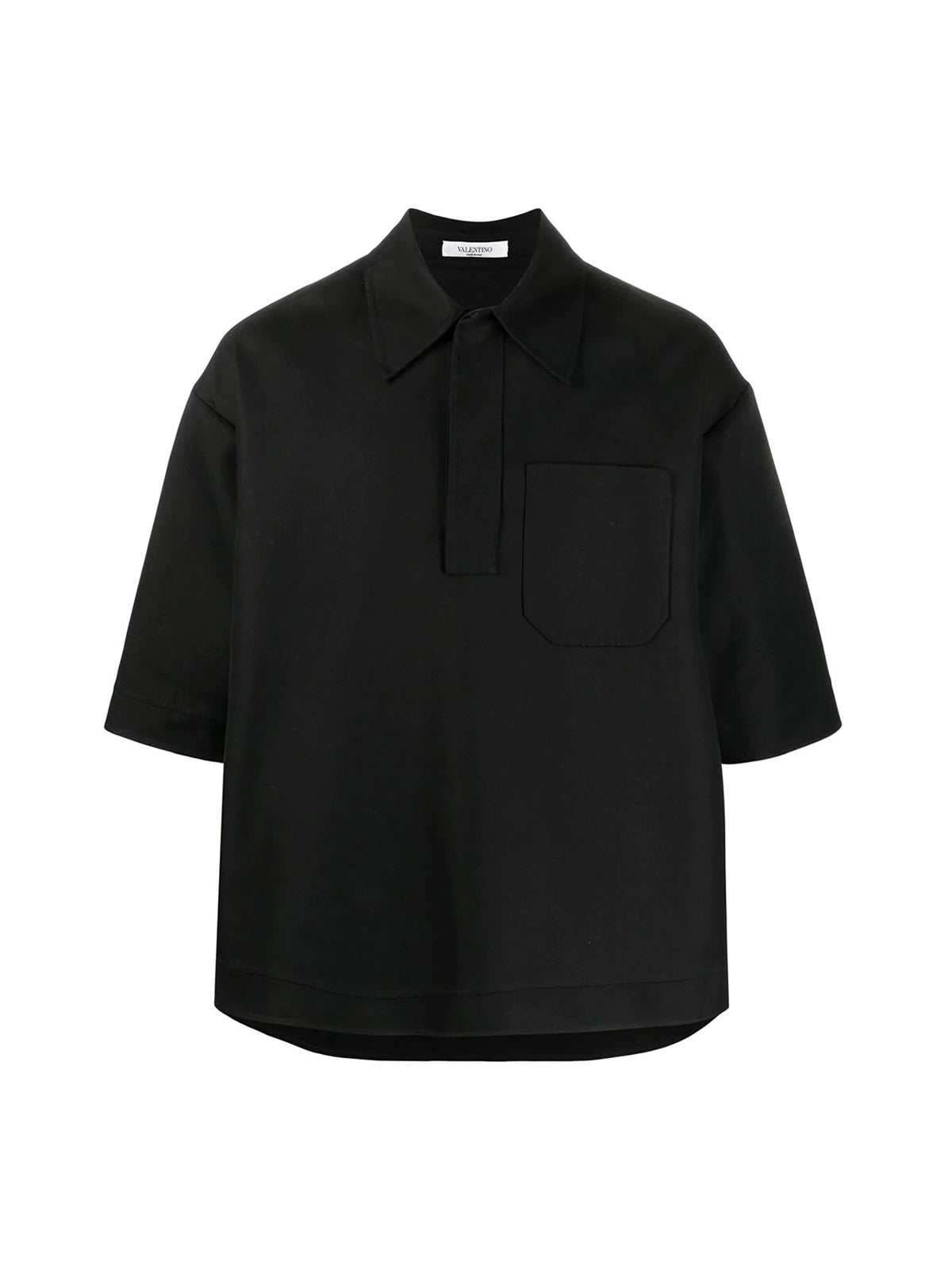 double-faced cotton polo shirt