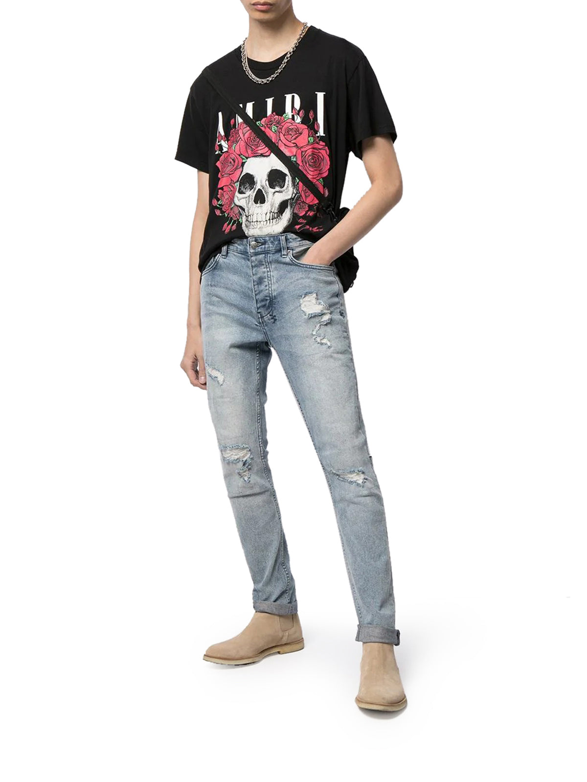 Grateful Dead skull-print cotton T-shirt