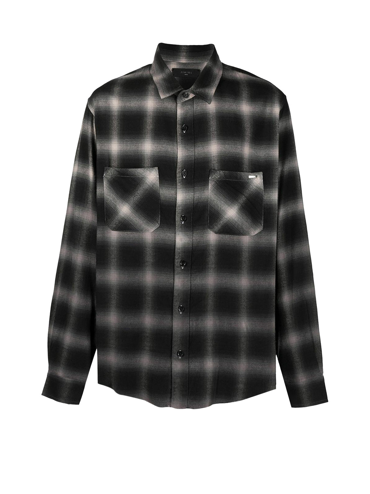 ombré check print shirt
