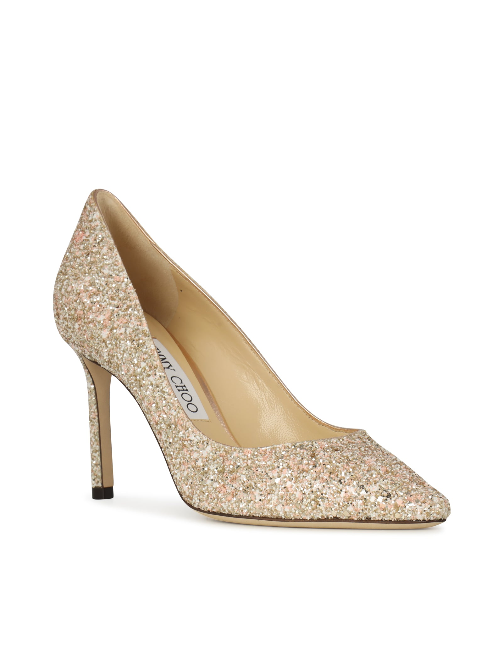 Romy 85mm glitter-embellished pumps