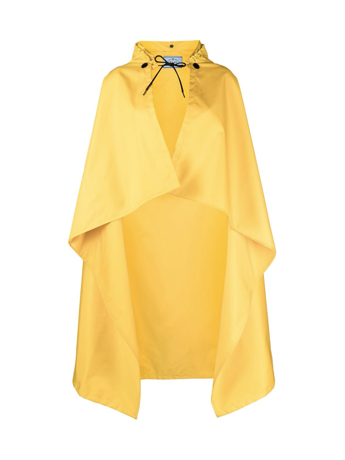 draped raincoat