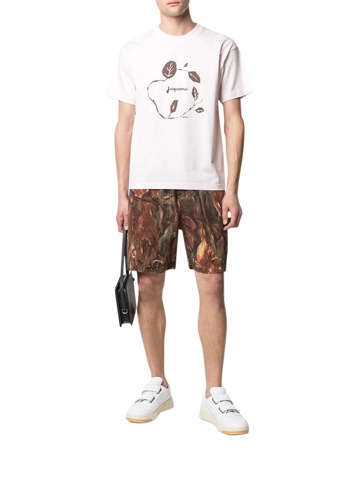 graphic print short-sleeved T-shirt