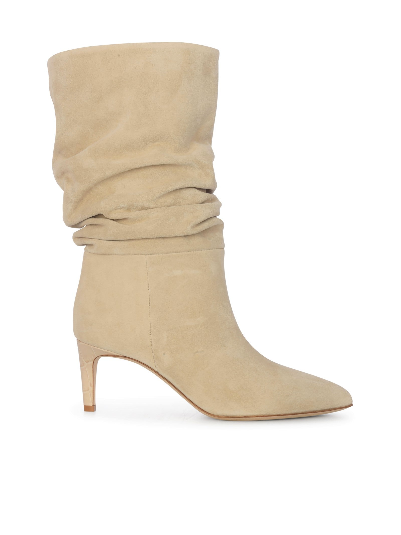 ruched pointed boots