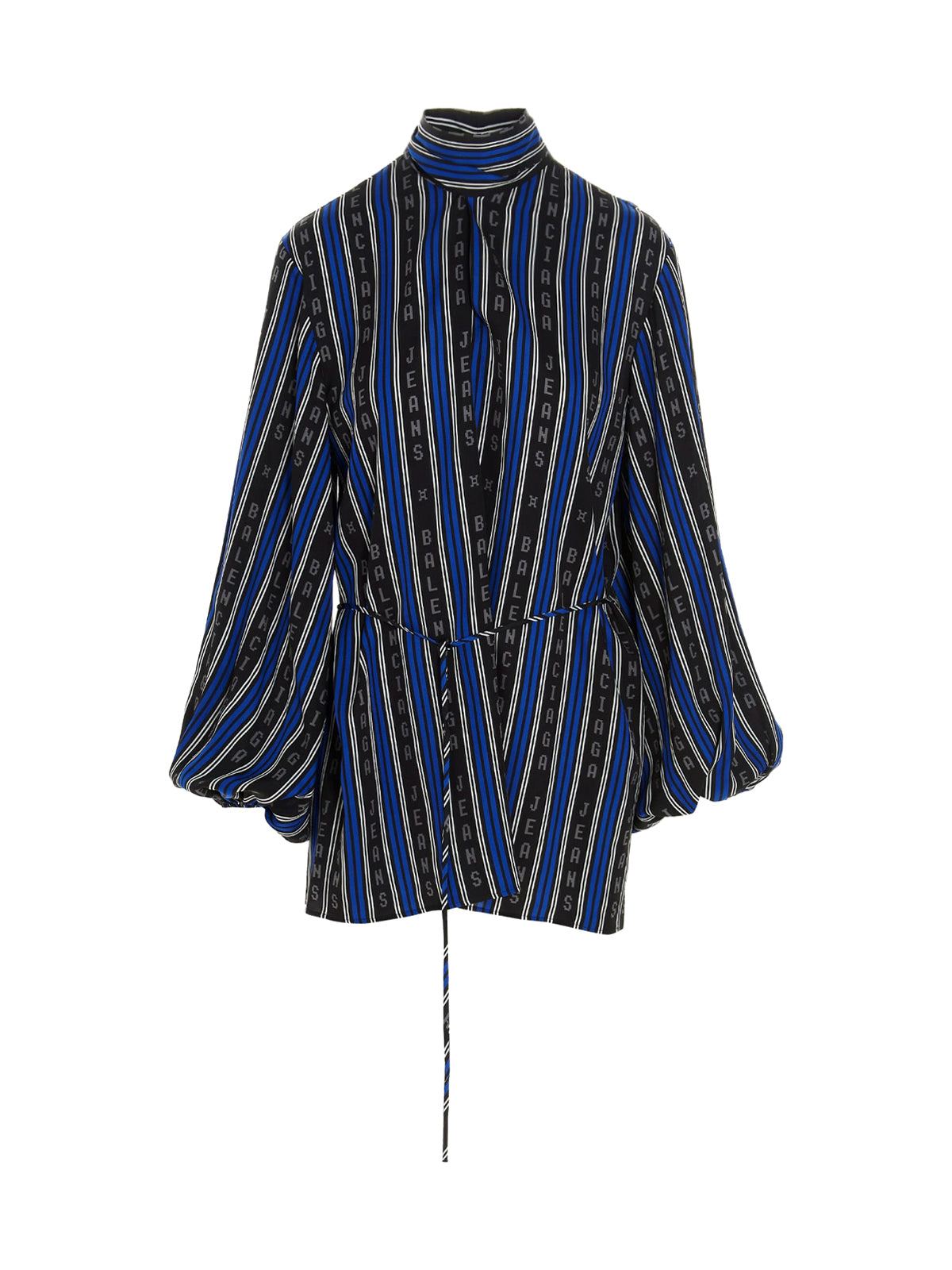 Striped blouse with logo
