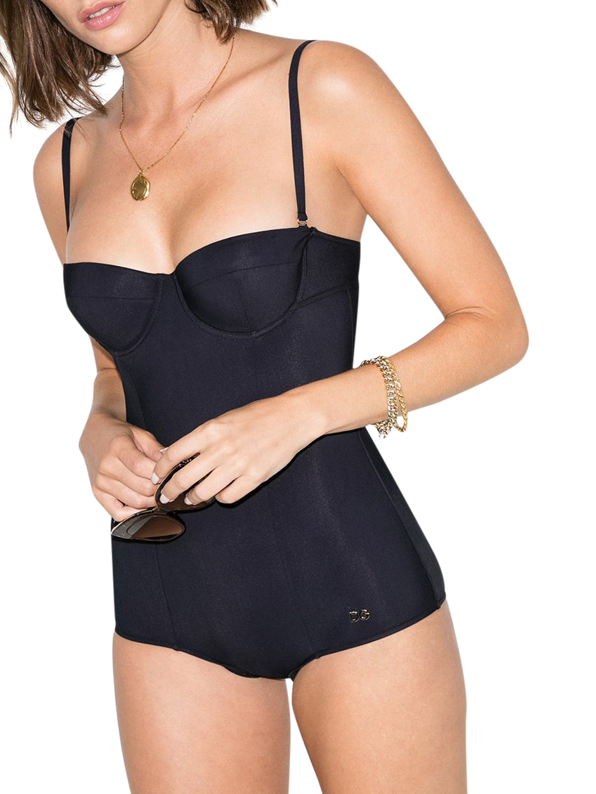 balconette-cup swimsuit