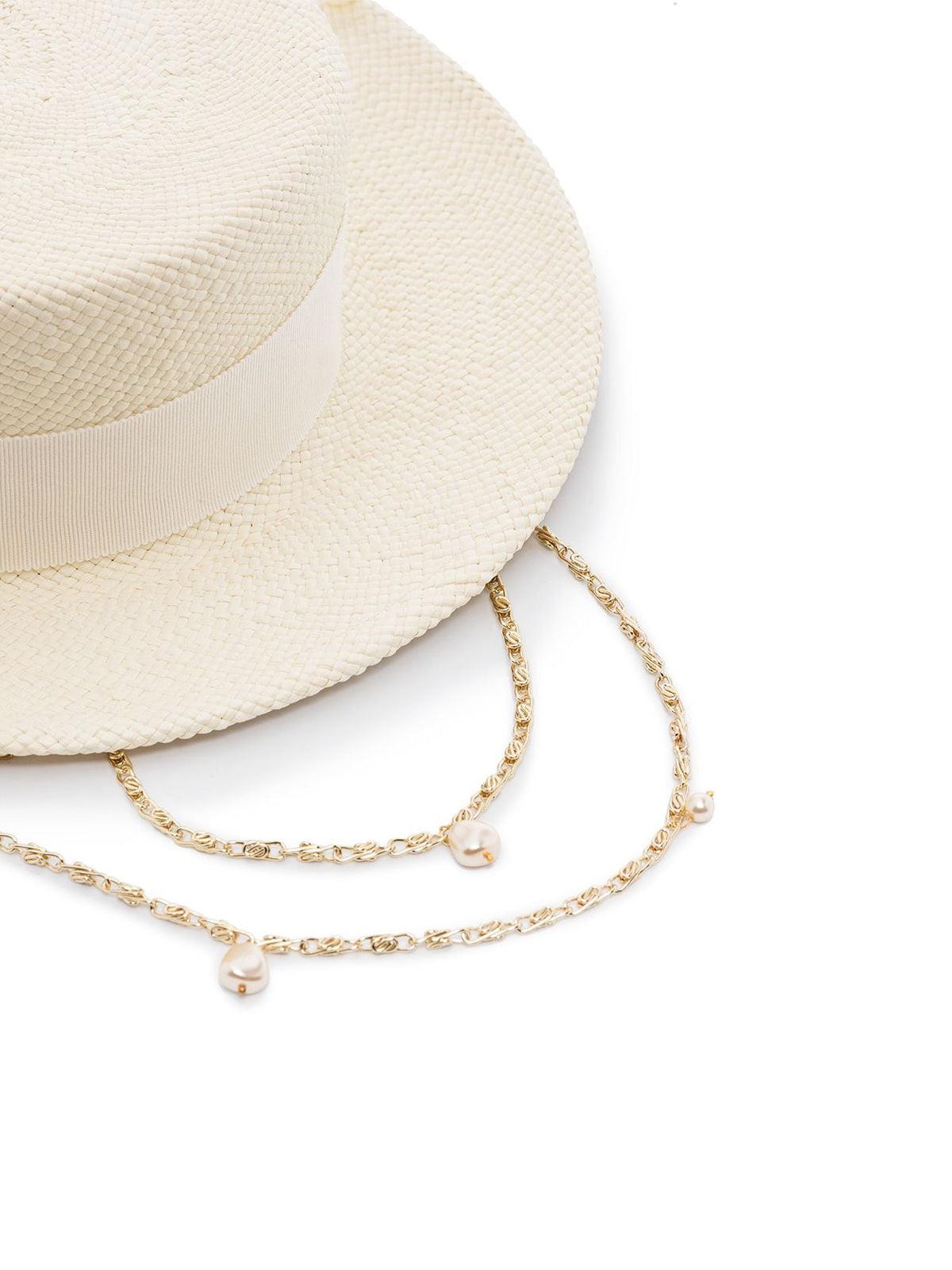 chain strap boater hat