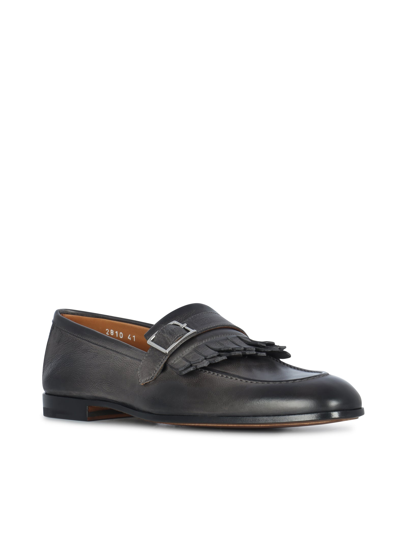 leather loafers with fringes