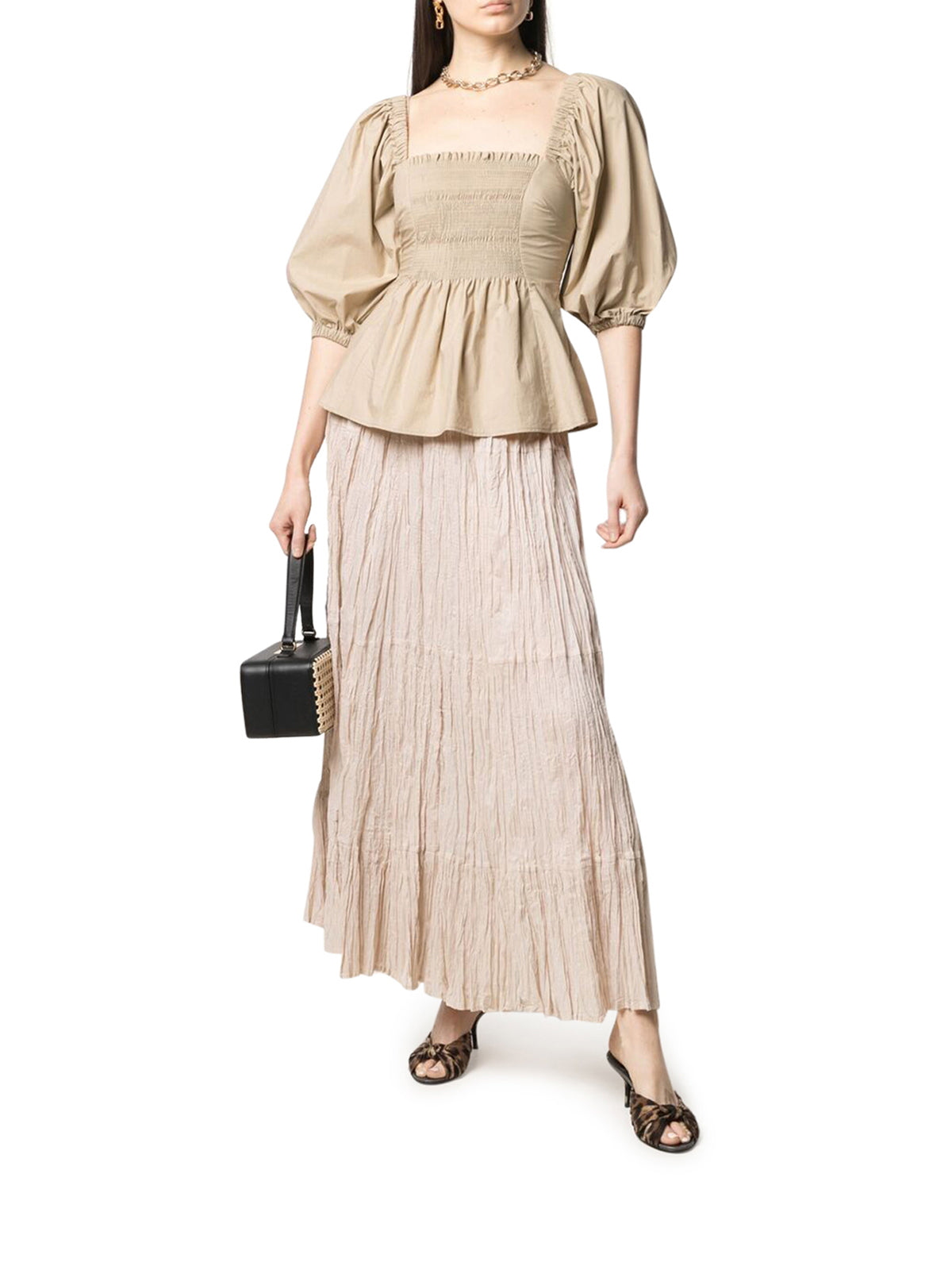 P.a.r.o.s.h. Clothing GATHERED-CREPE SKIRT