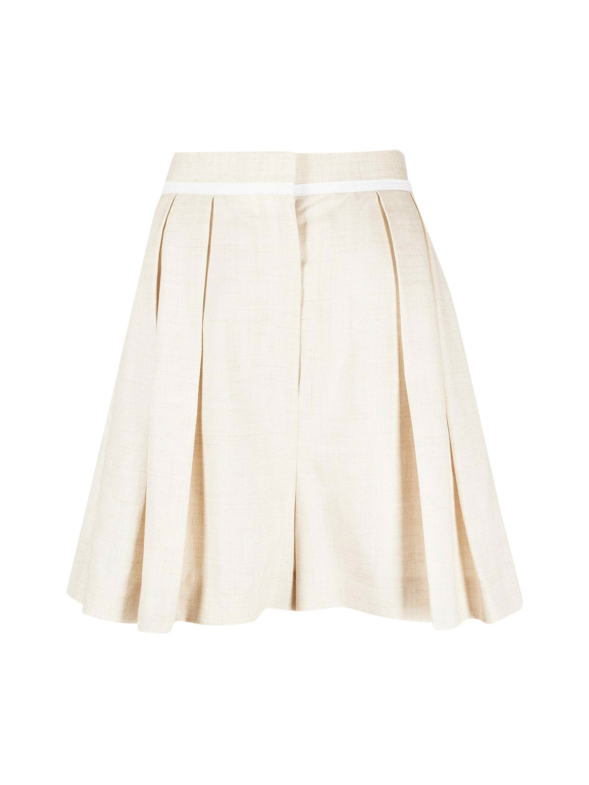 high-waist pleat-detail tailored shorts
