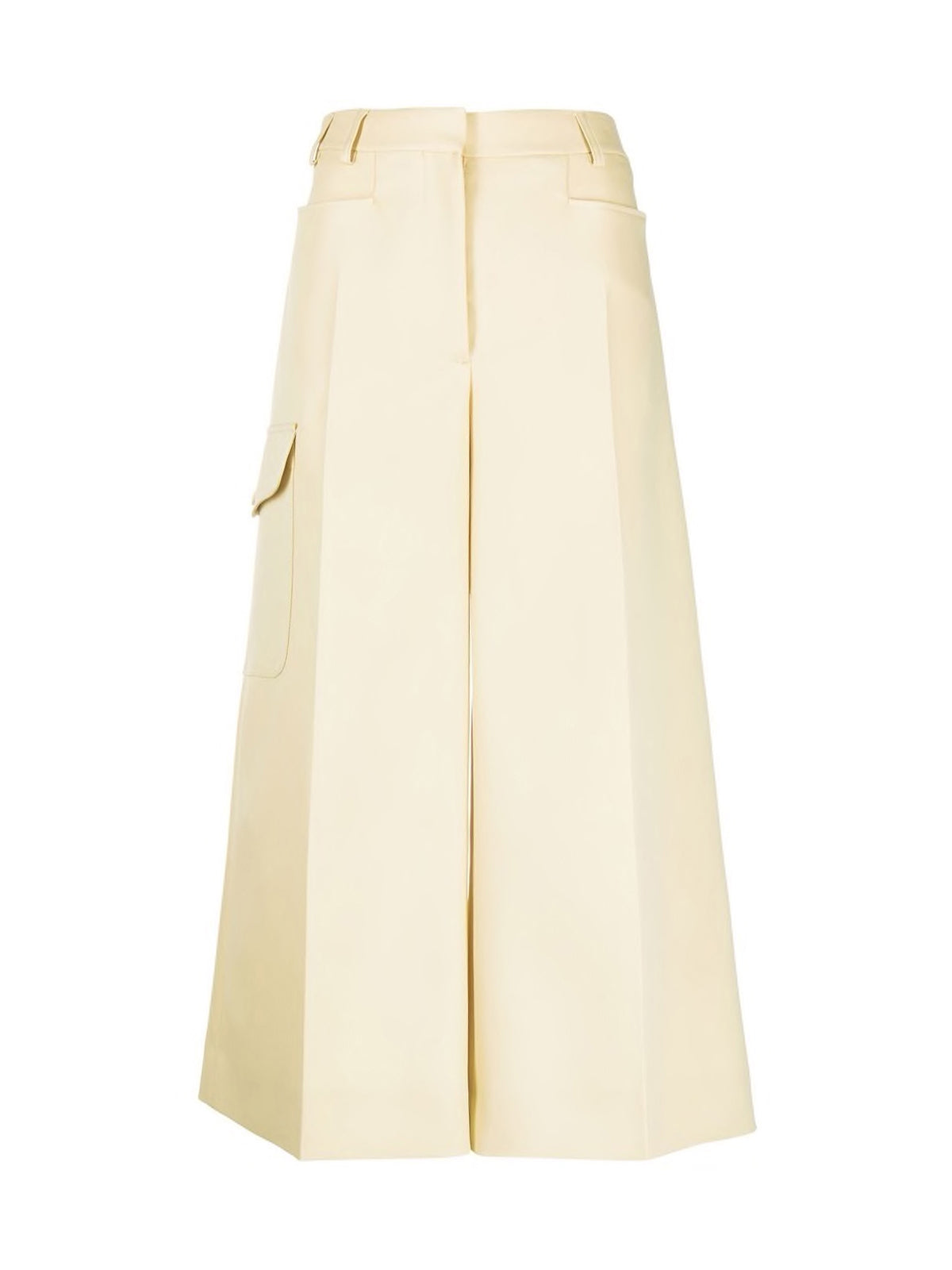 high-waisted wide-leg culottes