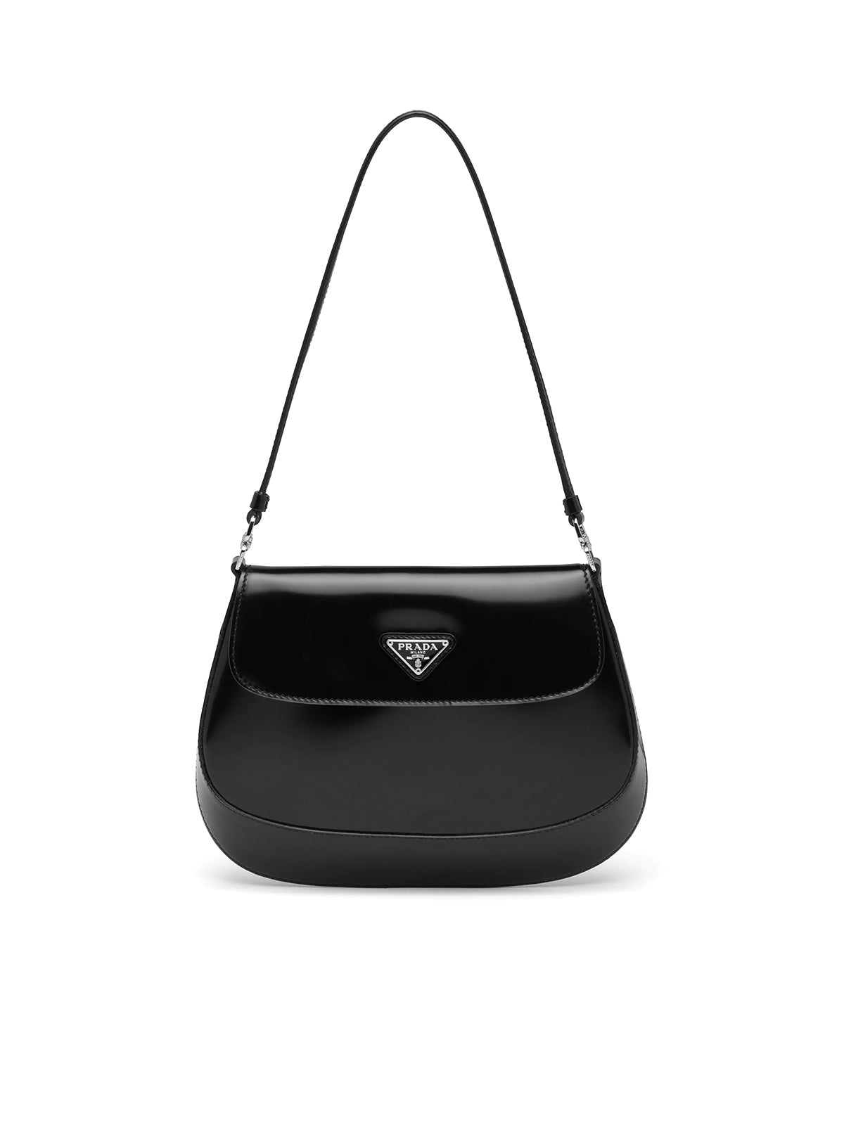 Prada Cleo brushed leather shoulder bag with flap