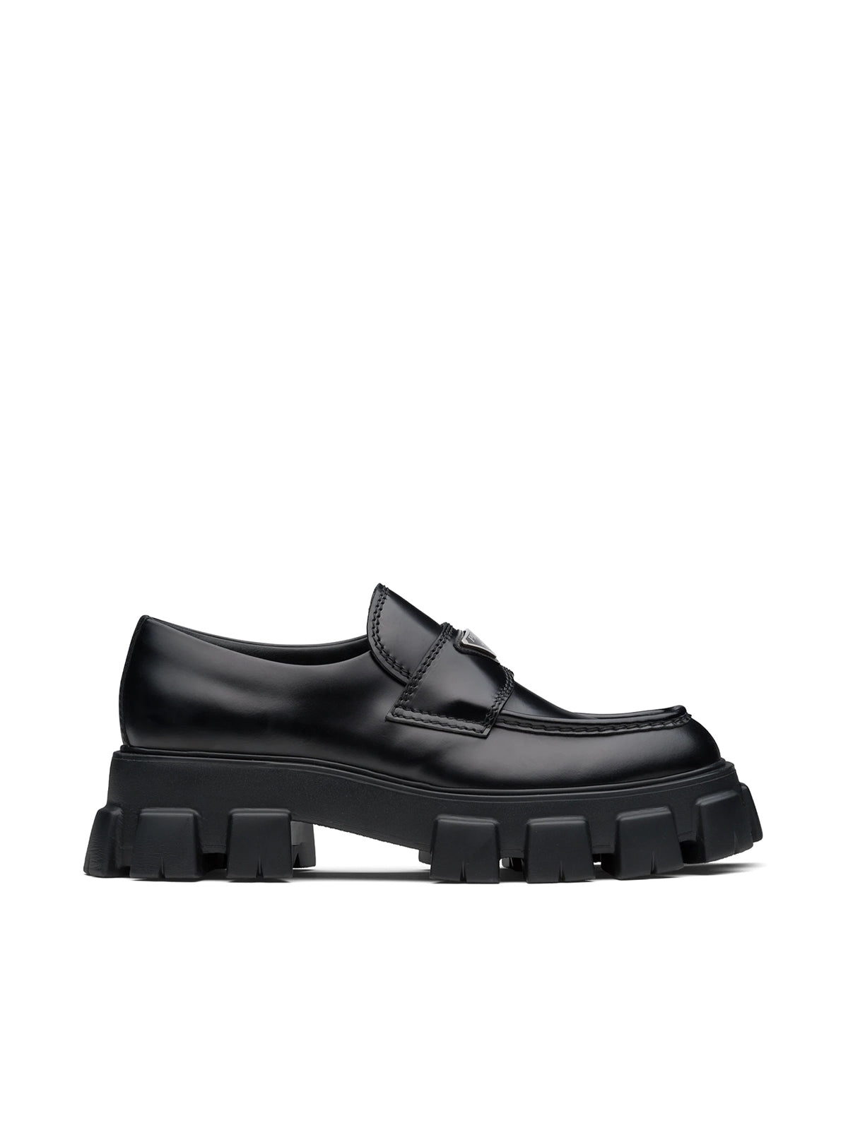 Monolith brushed leather loafers