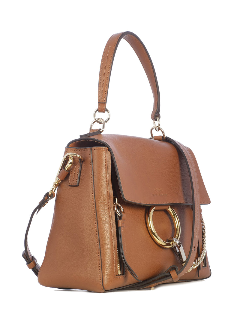 FAYE DAY LEATHER SHOULDER BAG