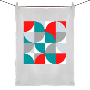 Bayside Luxe - Mid Century Modern - Ready Red Tea Towel - Baysideluxe