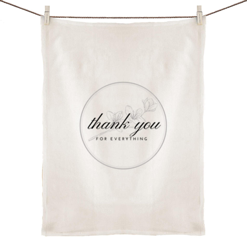 Bayside Gifts - Thank you for everything - 100% Linen Tea Towel - Baysideluxe